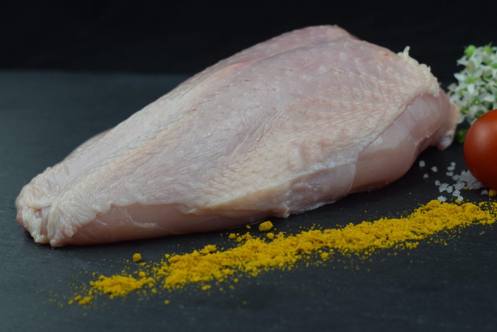 Hähnchenbrust Mit Haut Und Knochen